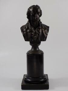 Jugendstil Bronze Büste Friedrich Schiller Skulptur H.Gladenbeck & Sohn 20.JHD
