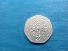 "VERY RARE 50P COIN ""100 YEARS OF GIRL GUIDING"" WITH MINT ERRORS"