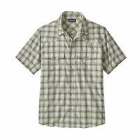 NEW Patagonia Mens Small Bandito Shirt Short Sleeve Snap Button Slim Fit