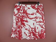 SK07349- COLDWATER CREEK Woman Linen Wrap Skirt Multi-Color Floral Sz PL 14 16