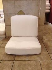 2 pc Frontgate Melano Outdoor Lounge White Cushion Patio Club Chair 26x27 NEW