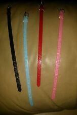 Discount Leather pet Dog, Cat, Iguana, collars / Human Bracelet. 4 colors avail.