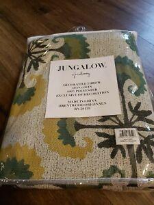 "New Jungalow Justina Blakeney Throw Blanket  50"" x 60"" Green Yellow 6978-001"