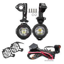 Faretti supplementari fendinebbia LED 40w E9 + Cablaggio + Griglie protezione