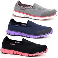 Ladies Get Fit Go Walking Slip On Mesh Pump Plimsoll Sneakers Trainers Shoes Siz