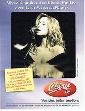 Publicité Advertising 028  2005   concert Lara Fabian à Nantes & radio Chérie FM