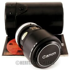 Canon FD 135mm SC Telephoto Lens with Case Hood Caps (adaptable to many digital)