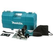 Makita Plate Joiner 6 Amp Corded Adjustable Depth Stops Dust Bag Tool Case