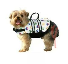 Paws Aboard NAUTICAL Puppy Dog Doggy Pet Life Vest Jacket  XS Extra Small