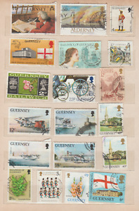 GUERNSEY A USED STAMPS COLLECTION, 86 STAMPS, 5 SCANS
