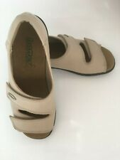 Hotter Beige Leather Ladies Sandals Size 5