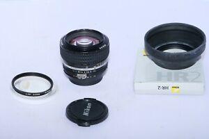Nikon NIKKOR AI-S 50mm f1.2 FX Manual Focus Lens with filter & hood. CLA'D. D4s