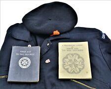 Vintage Red Cross Vintage Jumpsuit Beret & St John Ambulance Books set