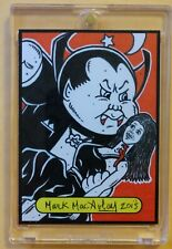 GPK SKETCH CARD: Nasty NICK / Evil EDDIE  GARBAGE PAIL KIDS (1/1) MARK MACAULAY