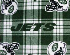 1-NFL NEW YORK JETS PRINTED FLEECE STANDARD PILLOW CASE/  BLACK FLEECE BACK