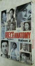 DVD GREY'S ANATOMY SAISON SEASON2 PARTIE1 COFFRET 4DVD SERIE PORT A PRIX COUTANT