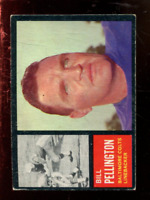 1962 Topps Football Card #'s 1-173 - You Pick - Buy 10+ cards FREE SHIP