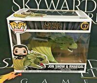 Jon Snow & Rhaegal - 67 Game Of Thrones (Funko POP!) Vinyl Figure - DAMAGED BOX