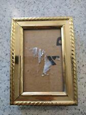 "Vintage solid brass picture frame hand polished 3x2"""