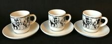 Brazilian demitasse cups  (3) black and white
