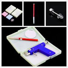 Professional Steel Ear Nose Navel Body Piercing Gun 72pcs Studs Tool Kit Set T~~