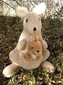 Big Very Good Quality Vintage Plush Toy Kangaroo Alresford Crafts 42cm