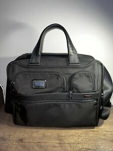 Tumi Alpha 2 15 inch Laptop Briefcase - Black and Blue