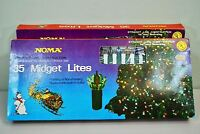 *2 Boxes* Vintage Christmas Lights Noma Midget Star Pedal Lites Box Set