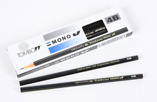 TOMBOW MONO J 4B Pencil 1Dozen Set, Design Sketch Art Drawing, Made in JAPAN