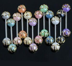 Tounge Piercing Barbell Bar Tongue Body Jewelry Nipple Rings Bars Acrylic