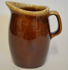 Hull ~ Brown Brown Drip Creamer Oven Proof ~ Made In U.S.A.