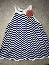 Gymboree Stripes and Anchors Blooming Nautical chevron stripe sweater M 7 8 EUC