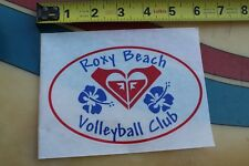 ROXY Beach Volleyball Club Girls Quicksilver Hawaii Flower Aloha Surfing STICKER