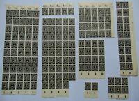 Bogenteile Gemeinschaftsausg. I. Kontrollratsausgabe 1946, 2 Pf, Mi 912, OR HAN