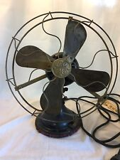 Antique GE Brass Blade  Fan - Working