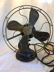 Antique GE Brass Blade  Fan - Working