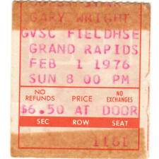 Peter Frampton & Gary Wright Concert Ticket Stub Grand Rapids Mi 2/1/76 Rare