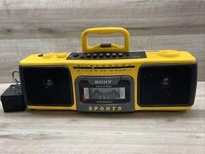 SONY SPORTS Stereo AM/FM Cassette -Corder Boombox CFS-930 See description