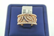 14K SOLID ROSE GOLD 1.00 CT ROUND CUT DIAMONDS LADIES RING 7.4 GM SIZE 7