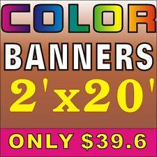 2'X20', 39.6 usd Custom outdoor banner, indoor banner full colour Vinyl Banner