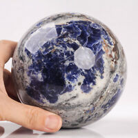 2202g 115mm Large Natural Sodalite Quartz Crystal Sphere Healing Ball Chakra