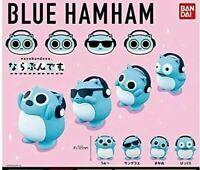BANDAI BLUE HAMHAM Capsule Toy 4-Piece Set Full Comp Gachagacha