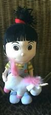 Universal Studios Despicable Me Agnes Holding Unicorn Plush Toy Doll 15""