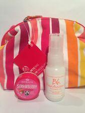 Beauty Bundle, Lip Balm, Bumble & Bumble Oil & The Body Shop Cosmetic Bag