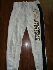 🖤JUSTICE🖤 Girls Grey Merle, Gold Sparkle & Black Joggers Size 10