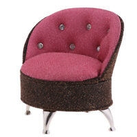 Miniature Pink Single Sofa Chair Furniture Toy for 1/6 Action Figure Dolls