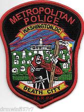 """Washington D.C. Metro  """"Death City""""  (4"""" x 5"""" size) shoulder police patch (fire)"""