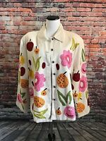 Anage Jacket Embroidered Fruit and Flowers 2X