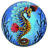 Snap Jewelry 18-20mm Charm Fits Ginger Snaps -  Enamel Sea Horse Beach Ocean