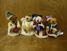 Ganz Cottage Collectibles Cc11151 Jingle Bears set of 4, New from Retail Store